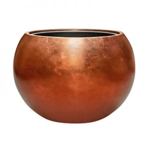 Metallic Leaf Globe Copper