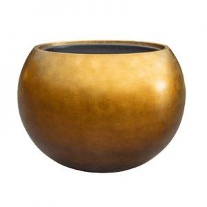 Metallic Leaf Globe Gold